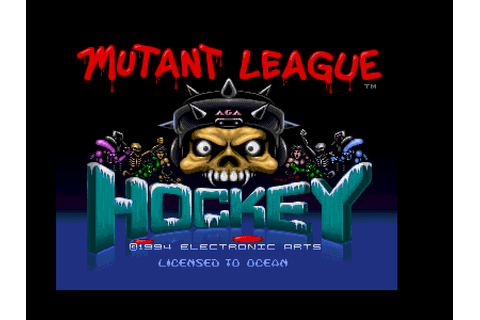 Unreleased Amiga game, Mutant League Hockey by Ocean ...