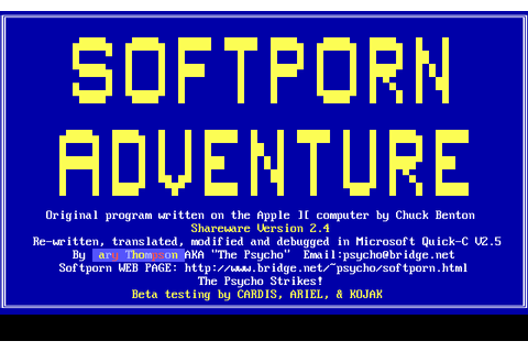 Play Softporn Adventure Online - My Abandonware