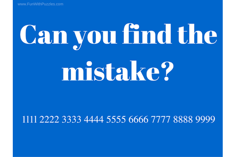 Can you find the mistake? (Picture Puzzles for Teens with ...