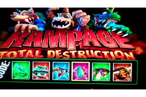 Rampage Total Destruction How you to do the Code - YouTube