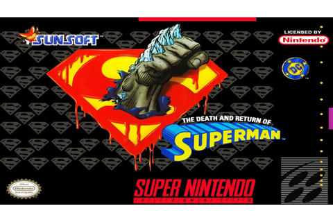 The Death and Return of Superman (SNES) - YouTube