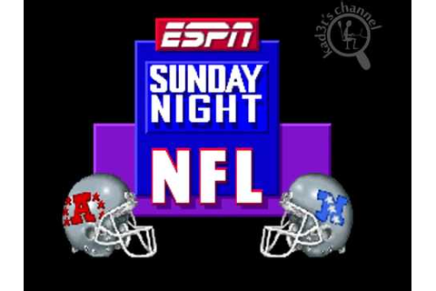 [Intro][SNES] ESPN Sunday Night NFL - YouTube