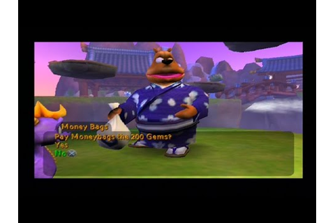 Spyro : Enter the Dragonfly - Money Bags' Only Appearance ...