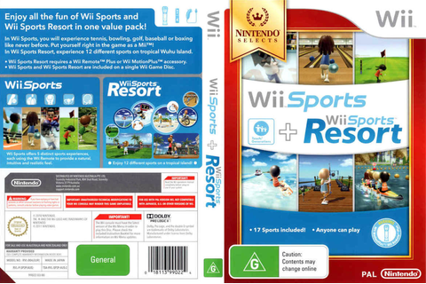SP2P01 - Wii Sports + Wii Sports Resort