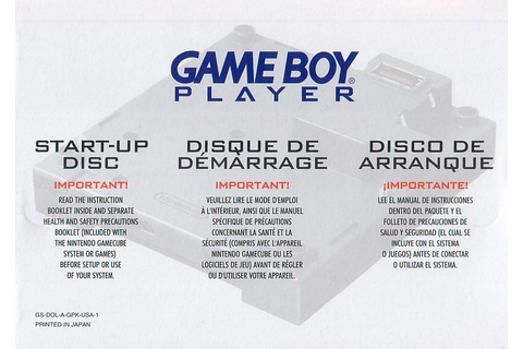 Game Boy Player Start-Up Disc - GameCube - IGN