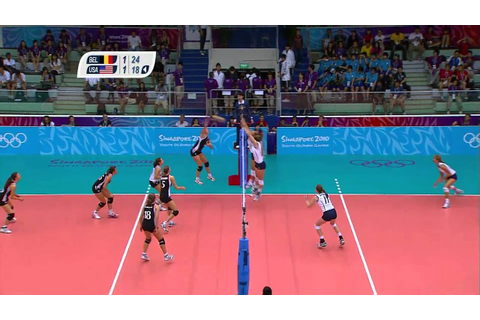 Belgium vs USA - Women's Volleyball - Gold Medal Match ...