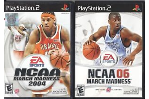Video Game Lot - NCAA MARCH MADNESS 2-PACK 2004 / 06 ...