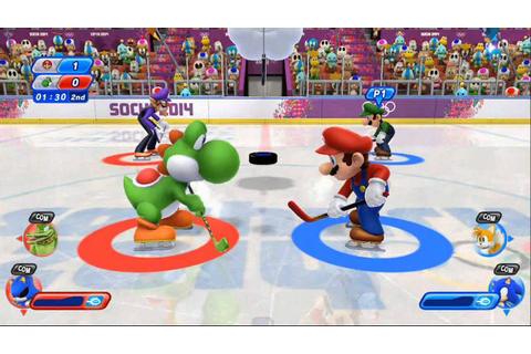 Mario & Sonic at the Sochi 2014 Olympic Winter Games - Ice ...