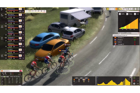 Pro Cycling Manager 2017: Gameplay Col du Galibier - YouTube