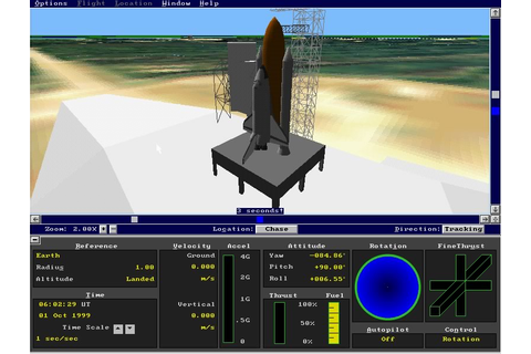 Microsoft Space Simulator vehicle simulation for DOS (1994 ...