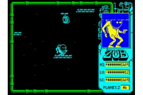 Zub ZX Spectrum Walkthrough 1/2 - YouTube