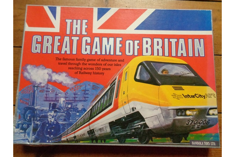 Vintage rare boxed The Great Game of Great Britain Railway