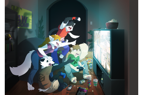 Gaming Furries by DynastyWolf96 on DeviantArt