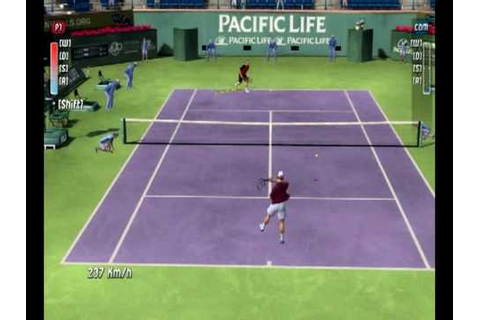 Top Spin 2 (PC) - Federer x Roddick (first set) Game Play ...