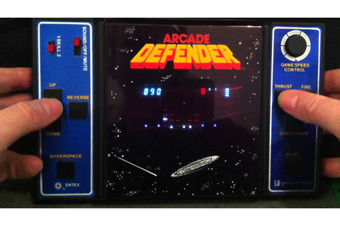 Entex Arcade Defender Gameplay - YouTube