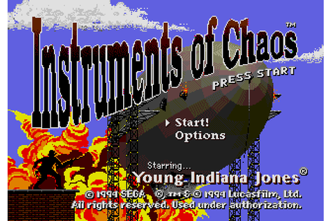 Instruments of Chaos - Starring Young Indiana Jones (1994 ...