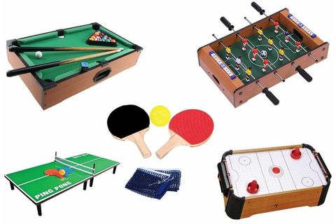Wooden Mini Table Top Air Hocky Table Tennis Football Pool ...
