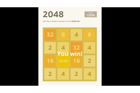 Win '2048' Game : Tips & Tricks / Demonstration - YouTube