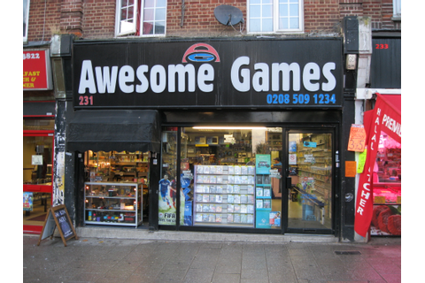UK videogame retailers: Awesome Games, Walthamstow, London ...