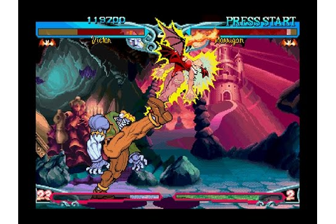 Darkstalkers 3 [PS1] - play as VH2 Victor - YouTube