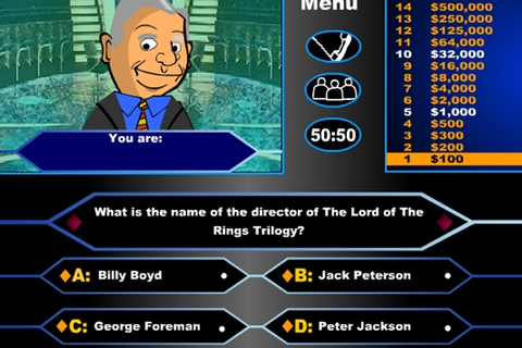 Lord Of The Rings Who Wants to be a Millionaire Game ...