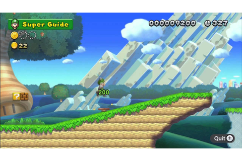 New Super Mario Bros. U Gameplay: Game Over Screen + Super ...