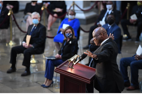 'Amazing Grace' tribute to John Lewis at Capitol leaves ...