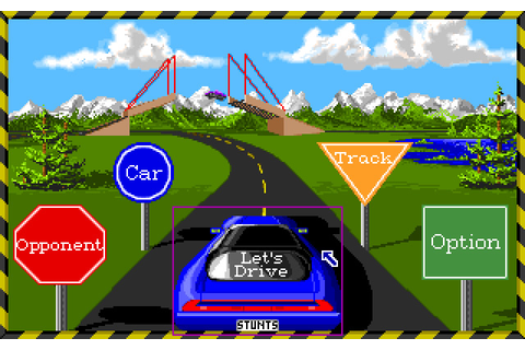 Download Stunts (a.k.a. 4D Sports Driving) racing for DOS ...