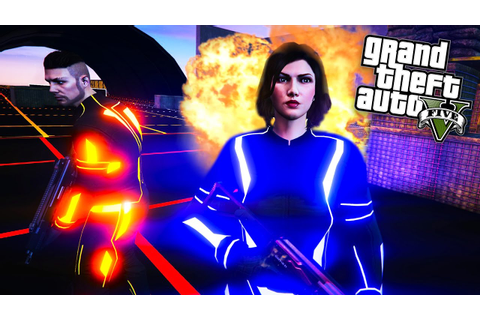 GTA 5 ONLINE - NEW TRON ADVERSARY MODE!! - YouTube
