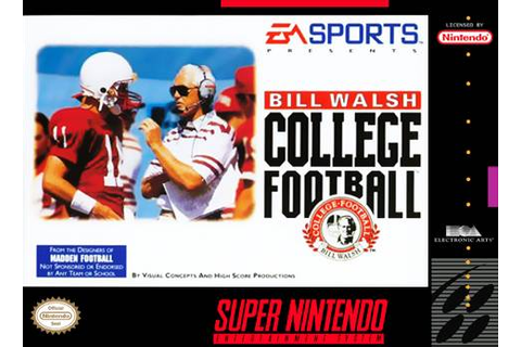 Bill Walsh College Football SNES Super Nintendo