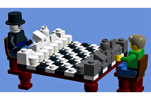 LEGO CHESS BOARD - how to make a LEGO checkerboard - YouTube