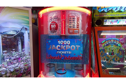 Quik Drop Arcade Ticket Game HUGE JACKPOT WIN!!! - YouTube