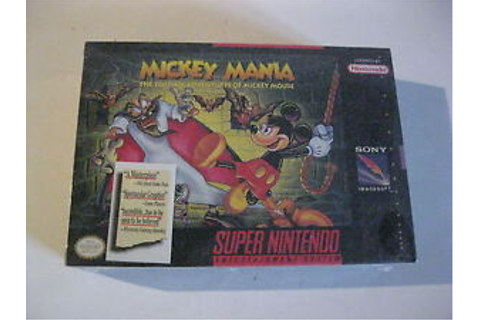 Mickey Mania SNES Super Nintendo Factory sealed game ...