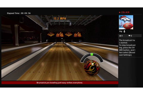Brunswick pro bowling ps4 easy strikes - YouTube