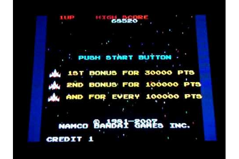 Namco Museum DS -- playing Galaga (Nintendo DS) - YouTube