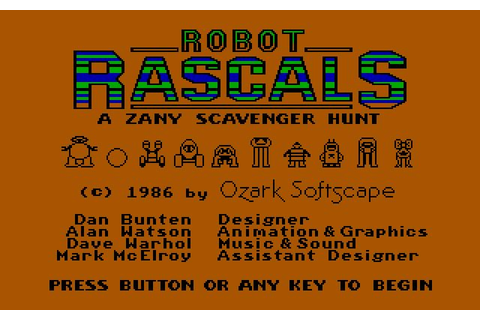 Download Robot Rascals strategy for DOS (1987 ...
