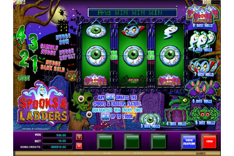 Play Spooks and Ladders Video Slot from MicroGaming for Free