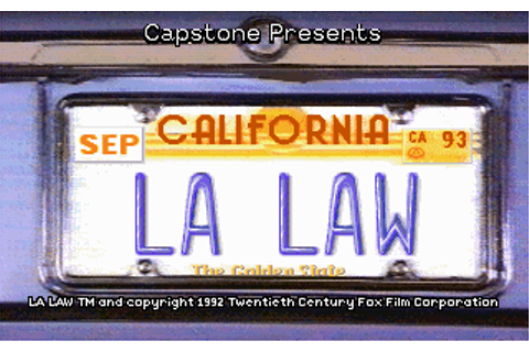 Download LA Law: The Computer Game - My Abandonware