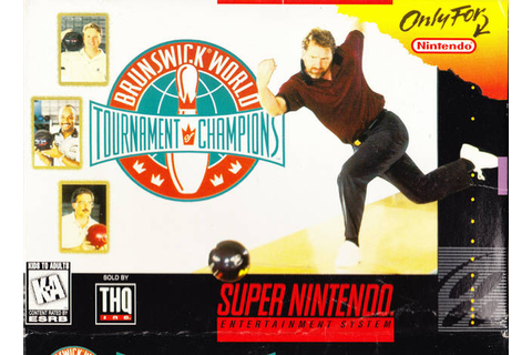 Brunswick World Tournament of Champions SNES Super Nintendo