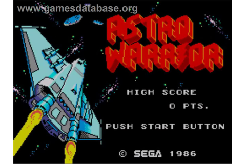 Astro Warrior - Sega Master System - Games Database