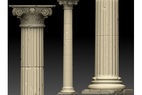 Beautiful ancient 3D pillar | Places of Inspiration ...