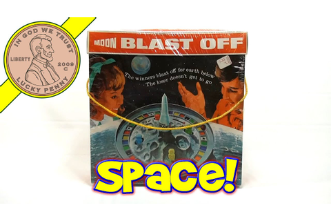 Moon Blast Off Game #543, 1970 Schaper Toys - YouTube