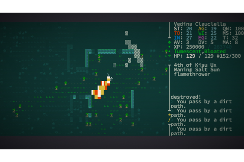"Caves of Qud - ""Swap stories with an albino ape mayor ..."