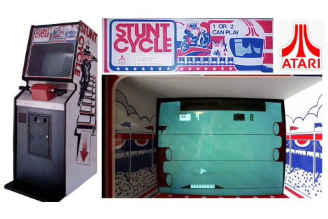 Stunt Cycle is a 1 player arcade game by Atari Inc ...