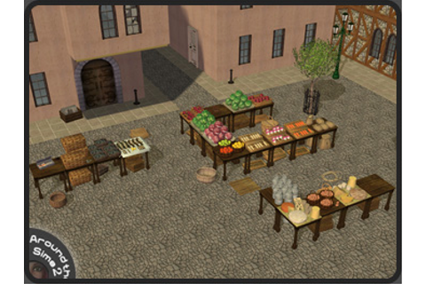 Around the Sims 2 | Objects | Downtown | Old Market ...