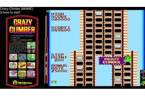 Crazy Climber Arcade Angriest Window! (MAME) (using ...