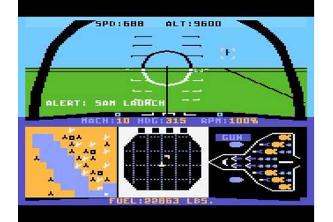 Atari 800 Game: F-15 Strike Eagle (1984 Microprose) - YouTube