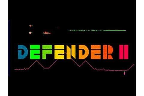 Classic Arcade Game Defender II on PS3 in HD 1080p - YouTube