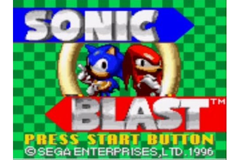 Let's Play Sonic Blast! (Part 1) - YouTube