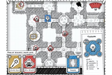 Draw a dungeon on graph paper in Guild of Dungeoneering ...